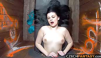 Girls get Fucked in Public Glory Hole Act