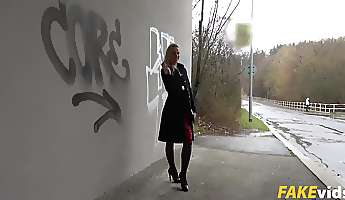 Afina Kisser In Stairwell Climaxes for Russian Blond